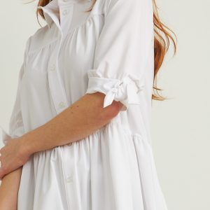 White Button-up Blouse Style 212285