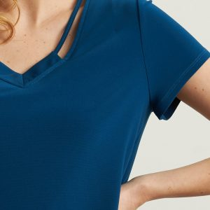 V-neck Tee Shirt Style 213338