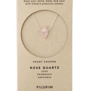 Rose Quartz Chakra Silver Plated Necklace