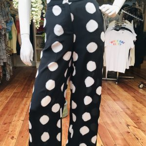 Black Spotted Pant