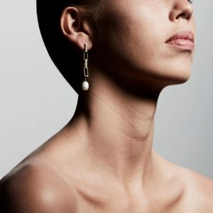 Gold Plated Colomba Pearl Earrings