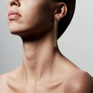 Gold Plated Chain Gudrun Earrings