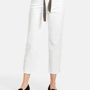 Beige Belt 3/4 Length Jeans