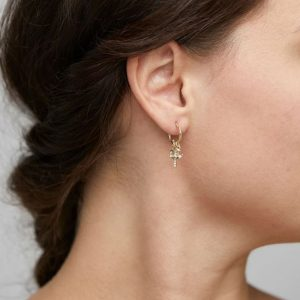 Gold Plated Crystal Anet Earrings