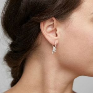 Silver Plated Crystal Anet Earrings