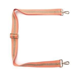 Peach Sparkle Crossbody Strap