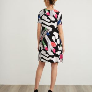 Abstract Print Dress Style 212224