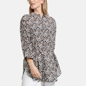 Graphic Printed Long Blouse