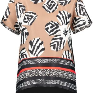 Silky Mixed Pattern Top