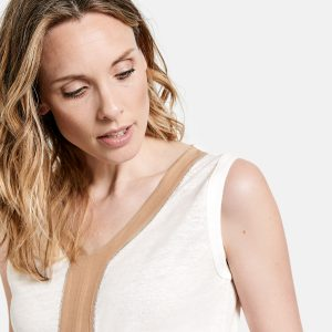 Pure Linen Top in Shell