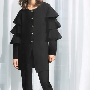 Frilled Coat Style 183345