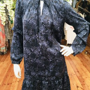 Floral Navy Recycled Polyester Dress