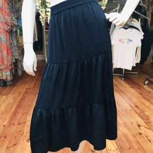 Navy Recycled Polyester Skirt