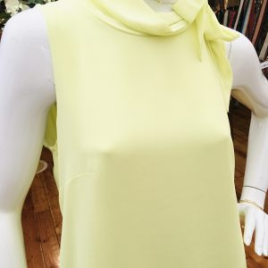 Yellow Dress with Flounces