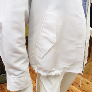 White Technical Fabric Blouson with Zip