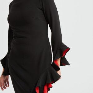 Black/Red Frill Dress Style 213019