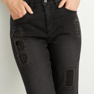 Charcoal Embellished Jeans Style 204959