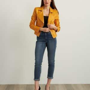Marigold Faux Leather Jacket Style 213945