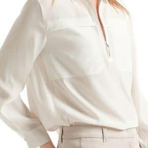 Off-White Silk Blend Blouse