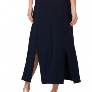 Navy Buttoned Skirt Style 202157