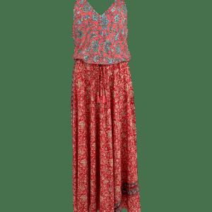 Luna Ella Coral Print Dress