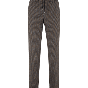 Black Jersey Patterned Trouser