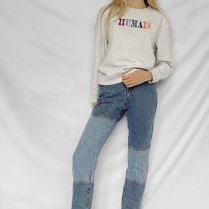 Organic Grey 'Humain' Sweatshirt