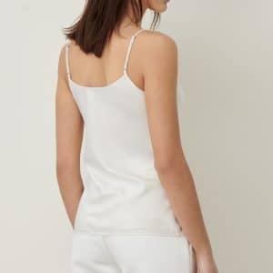 Vanilla Silk Look Vest