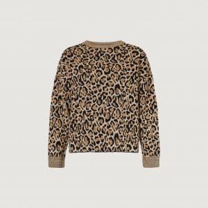 Leopard Lurex Jacquard Sweater