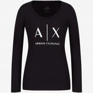 Black Long Sleeve Logo T-Shirt