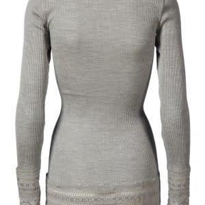 Grey Vintage Lace Blouse