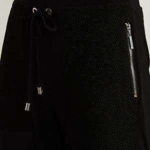 Mesh Detail Slim Leg Pants Style 213653