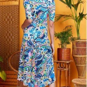 Iris Blue Remy Dress