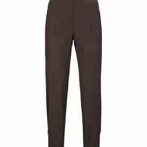 Onyx Brown Jersey Zip Pant
