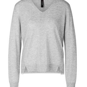 Silver Grey Cashmere Blend Sweater