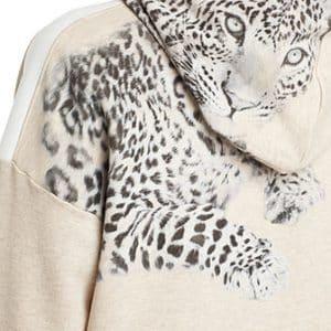 Latte Hooded Leopard Sweatshirt