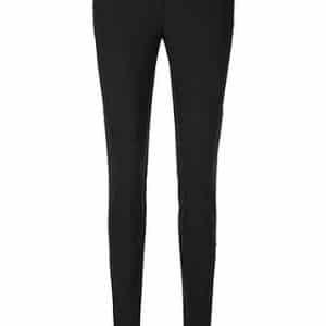 Black Overlock Stretch Pants