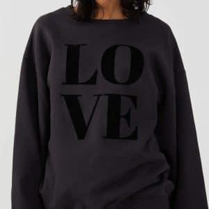 Alexa Smoke Black 'LOVE' Sweatshirt