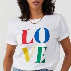 Lola White 'LOVE' T-Shirt