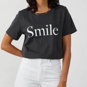 Lola Black Smoke 'Smile' T-Shirt