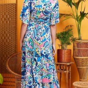 Iris Blue Tilly Maxi Dress