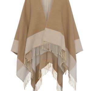 Camel Fringed Blanket Scarf