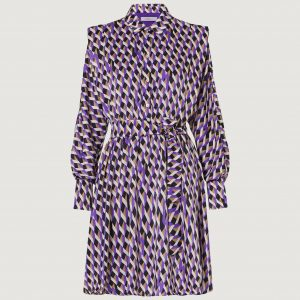 Purple Satin Andina Dress