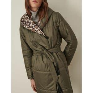 Reversible Leopard Print Down Jacket