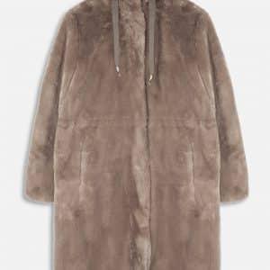 Silver Cloud Faux Fur Hooded Coat