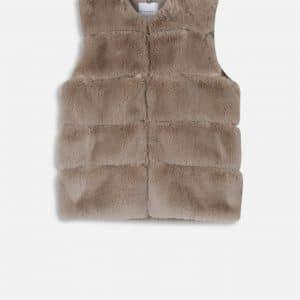 Silver Cloud Faux Fur & Vegan Leather Waistcoat