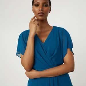 Wrap Chiffon Dress Style 213351