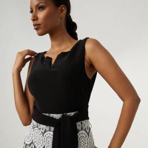 Lace Motif Dress Style 213717