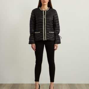 Embellished Puffer Coat Style 213909