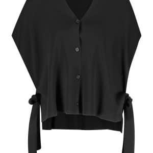 Black Knot Detail Sleeveless Jumper